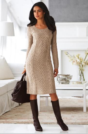 Теплое платье своими руками 7.