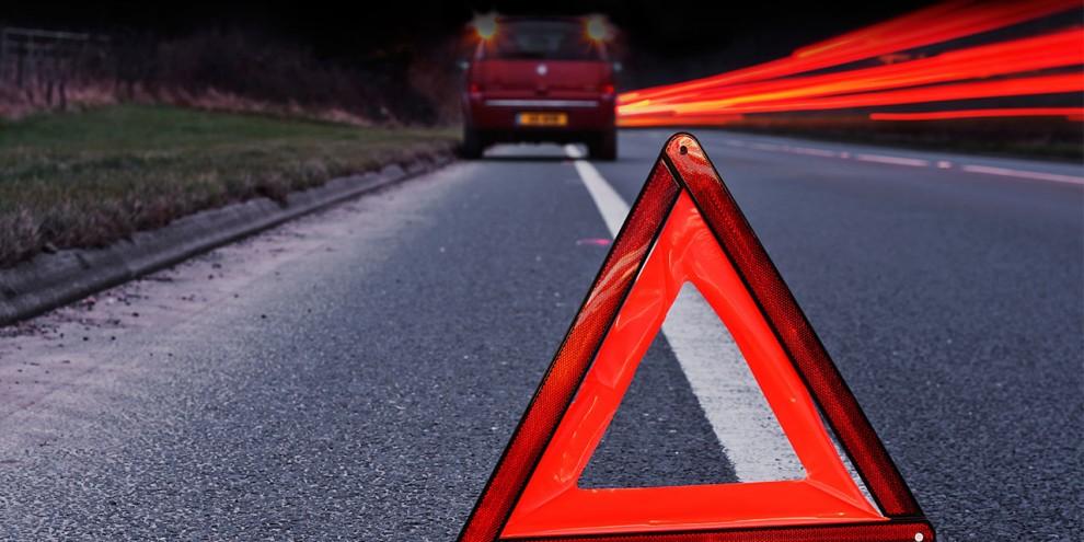 Фото новости - Очередное ДТП на феодосийской трассе: иномарка перевернулась на обочине