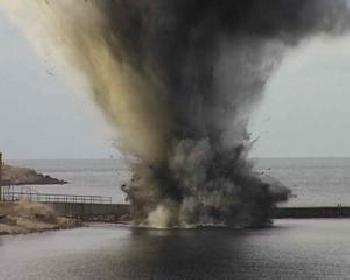 """Донный снаряд был найден в водах возле пляжа  """"Дельфин """", который находится около курортного поселка Николаевка в Крыму."""
