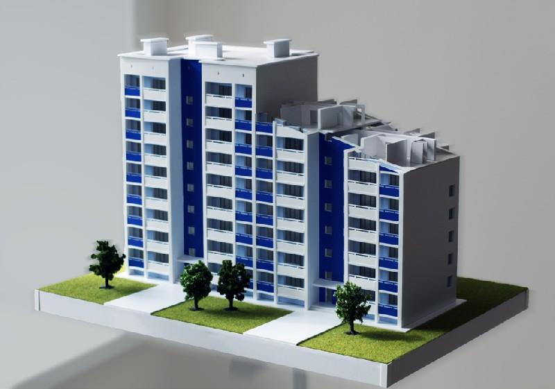 Макет многоэтажного дома из бумаги своими руками