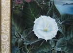 Продам разное: Картина «Пейзаж с белым цветком»