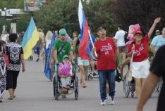 Феодосия. Новость - Более 500 человек приняли участие в акции в поддержку российских паралимпийцев, которая состоялась в Феодосии