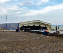 Строители Крымского моста наращивают темп работ в акватории