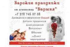 Феодосия. Новость - КТО есть КТО: агентство «Барыня»