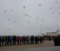Новости Феодосии: Белые шары в небе над феодосийским заливом