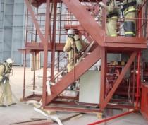 На феодосийском заводе «Море» тушили условный пожар (ФОТО)