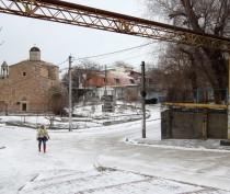 Новости Феодосии: Запорошенный снегом Форштадт и центр Феодосии