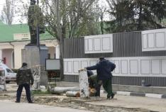 Феодосия. Новость - В Феодосии у Доски Почета спилили тополя