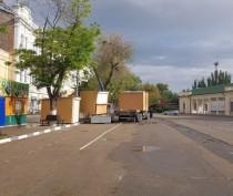 Новости Феодосии: На площади устанавливаются ларьки