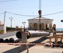 Новости Феодосии: Для феодосийского коллектора подвезли трубы (фотофакт)