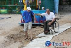Феодосия. Новость - Как инвалиду добраться к морю и не перевернуться