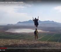 Полеты на параплане на горе Клементьева