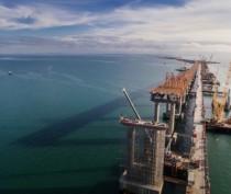 Готовы все опоры автодорожной части моста в Крым