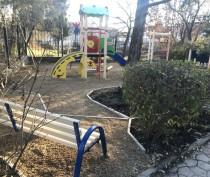 В Коктебеле устанавливают детскую игровую площадку (ФОТО)