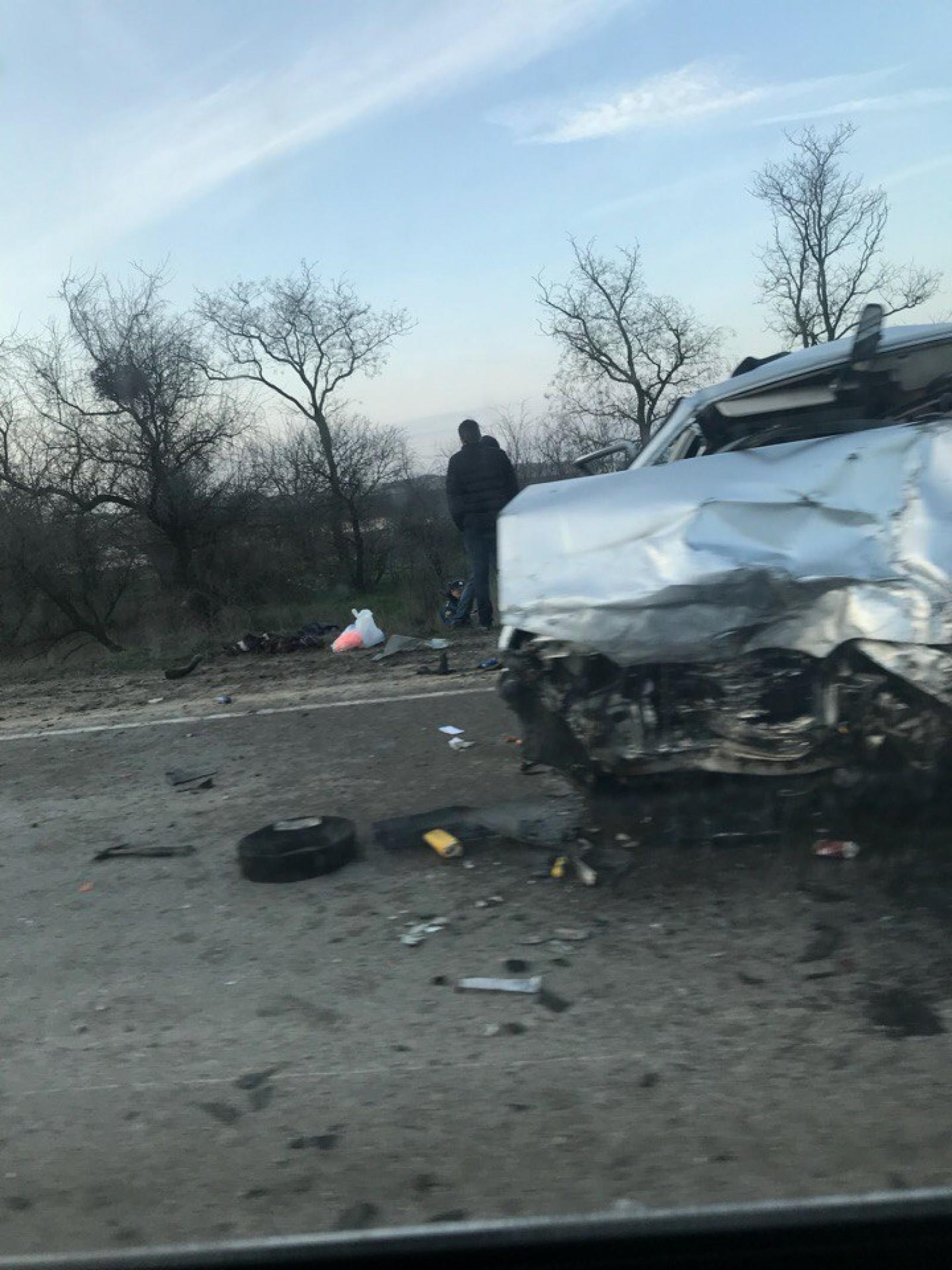 Фото новости - Авария на участке трассы  «Керчь-Феодосия»