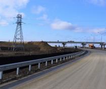 Крымская часть автоподходов к мосту через Керченский пролив готова на 77%